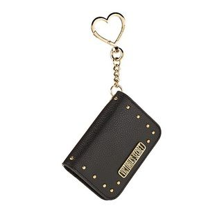 NWT VS studded black & gold card case